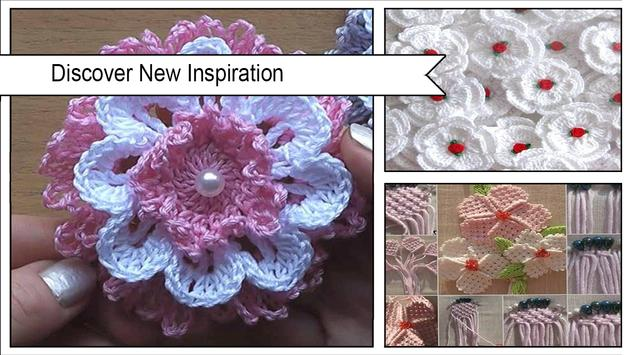 Pretty Crochet Flowers Step by Step screenshot 1
