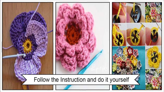 Pretty Crochet Flowers Step by Step screenshot 2