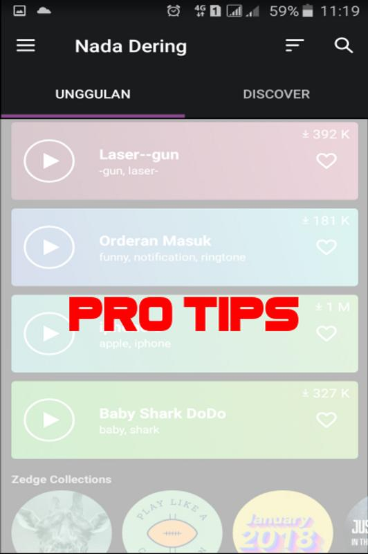 ProTips Zedge Wallpaper Ringtone Apk Screenshot