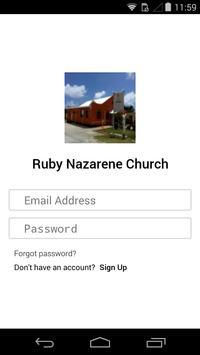 Ruby Nazarene Church poster