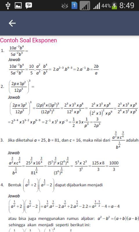 Rumus Matematika Sma Kelas 10 Kurikulum 2013