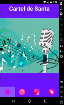 Cartel De Santa Music Lyrics apk screenshot