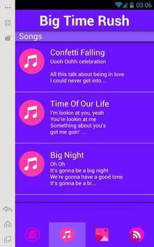 Big Time Rush Music Lyrics poster