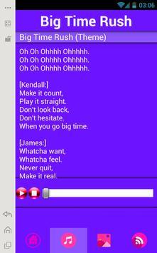 Big Time Rush Music Lyrics apk screenshot