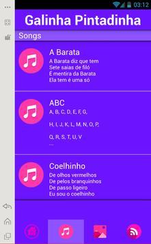 Galinha Pintadinha Music Lyric apk screenshot