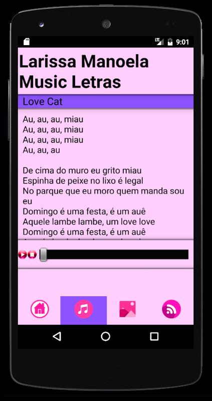 Larissa Manoela Música Lyrics Cartaz Larissa Manoela Música Lyrics imagem  de tela 1 ... 3d34babe71