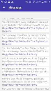 Awesome New Year Messages 2018 screenshot 1