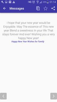 Awesome New Year Messages 2018 screenshot 8