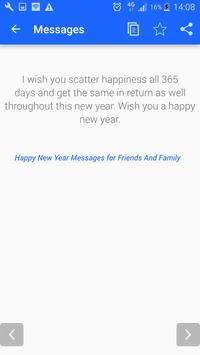 Greatest New Year Messages 2018 apk screenshot