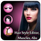 Beautiful Girl – Hair style , muscles, Abds icon