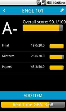 Real-Time GPA Calculator poster