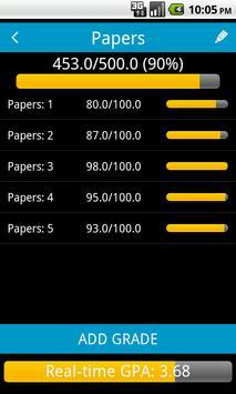 Real-Time GPA Calculator apk screenshot