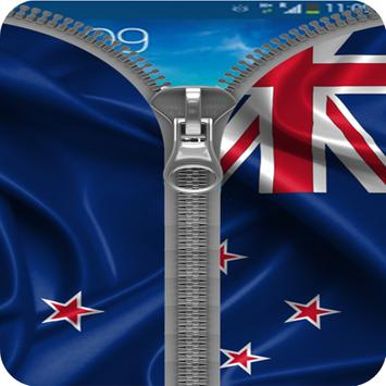 New Zealand Flag Zipper Lock apk screenshot