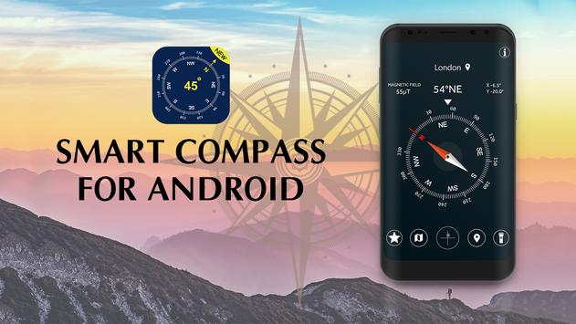 Smart Compass for Android: GPS Compass Map 2018 poster