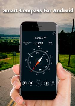 Smart Compass for Android: GPS Compass Map 2018 screenshot 1