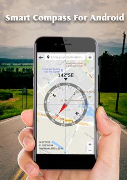 Smart Compass for Android: GPS Compass Map 2018 screenshot 2
