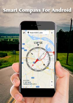 Smart Compass for Android: GPS Compass Map 2018 screenshot 3
