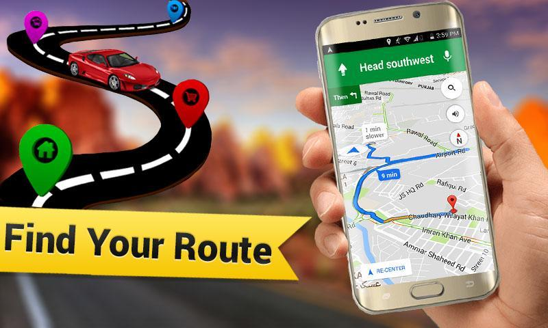 GPS Maps, Navigations, Directions - Route Tracker for Android - APK on