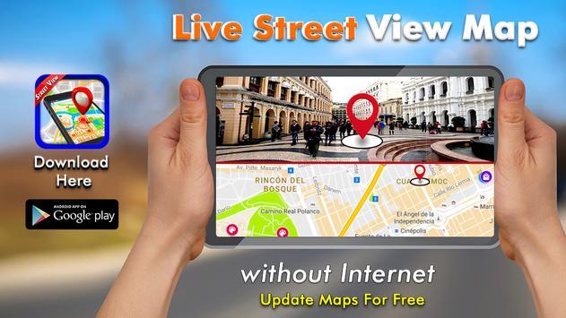 GPS Navigatie - Kaarten Richting, Live Street View-poster