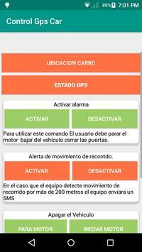 Control localizador GPS Car poster