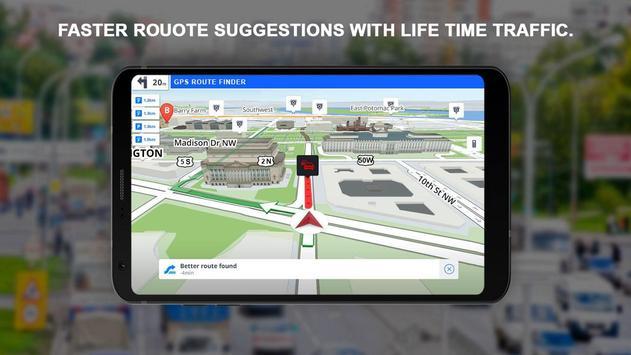 GPS Kaarten Navigatie doorvoer-Kompas Street View screenshot 1