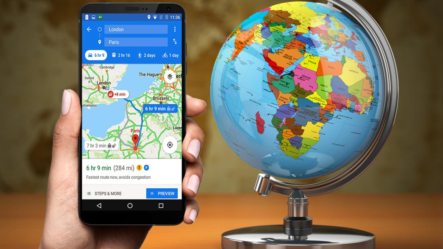 how to download route from google maps android