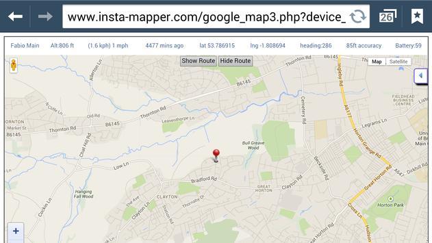 InstaMapper GPS Tracker screenshot 2