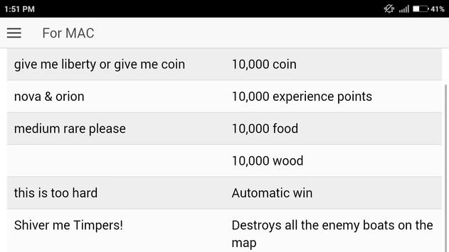 Cheat Code for Age of Empire 3 | Age of Empire III apk screenshot