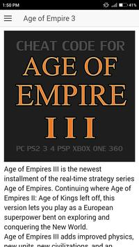 Cheat Code for Age of Empire 3 | Age of Empire III poster
