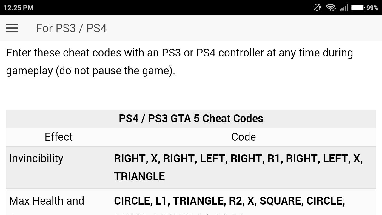 Cheat code for GTA 5   GRAND THEFT AUTO V Games for Android