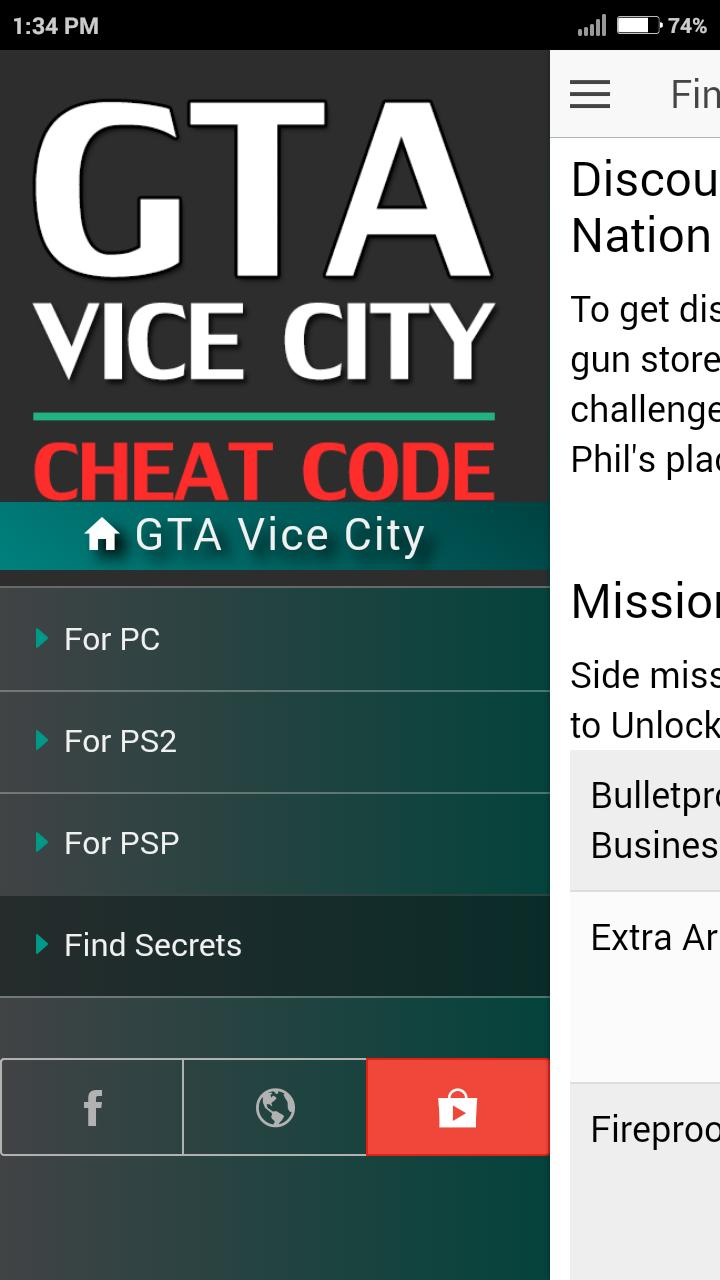 Cheat Code for GRAND THEFT AUTO VICE CITY GTA Game for