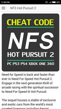 Cheat code for Need for Speed Hot Pursuit 2 Games poster