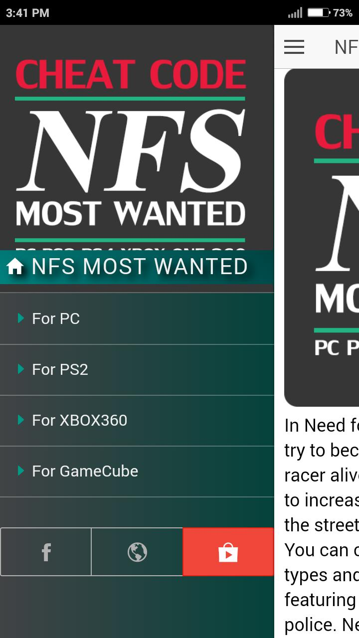 Cheat Code For Nfs Need For Speed Most Wanted Game Pour Android