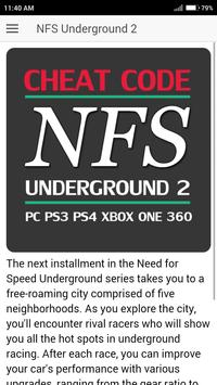 cheat code nfs underground 2 gamecube