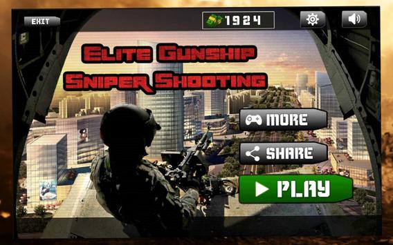 Elite Gunship Sniper Shooting - Hit Outer World poster