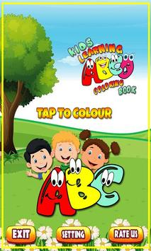 Coloring Book for Kids: Learning ABCD poster