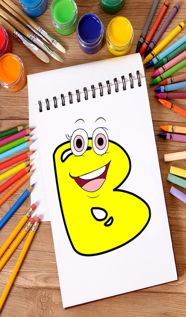 Coloring Book For Kids Learning Abcd For Android Apk Download - icon friendly 01 roblox faces tongue out clipart clipart