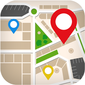 GPS route finder gps navigation map directionsFree icon