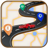 GPS Route Finder Navigator Live icon