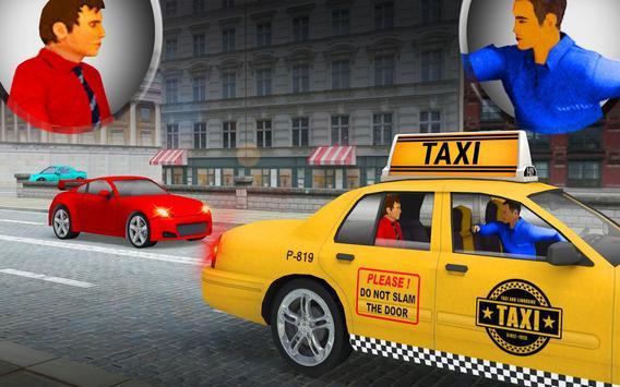 City Taxi Driver Cab Sim 2018 Pick & Drop Game screenshot 4