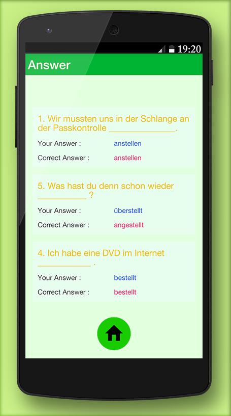 German grammar Exercises B2 for Android - APK Download