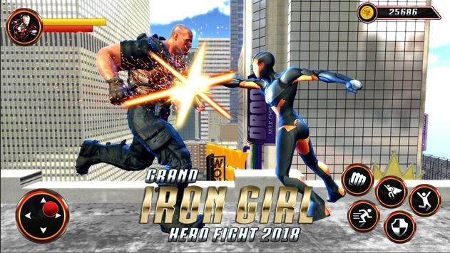 Grand Super Flying Iron Girl Rescue Fight screenshot 12