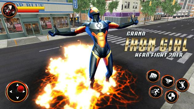 Grand Super Flying Iron Girl Rescue Fight screenshot 14