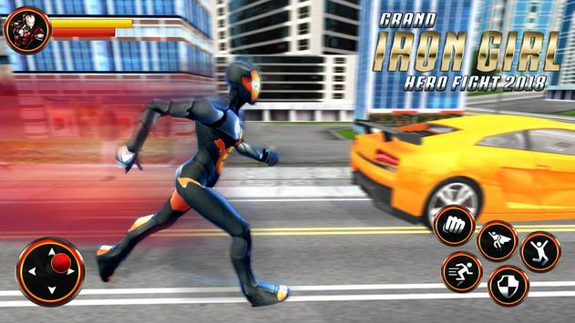 Grand Super Flying Iron Girl Rescue Fight screenshot 1