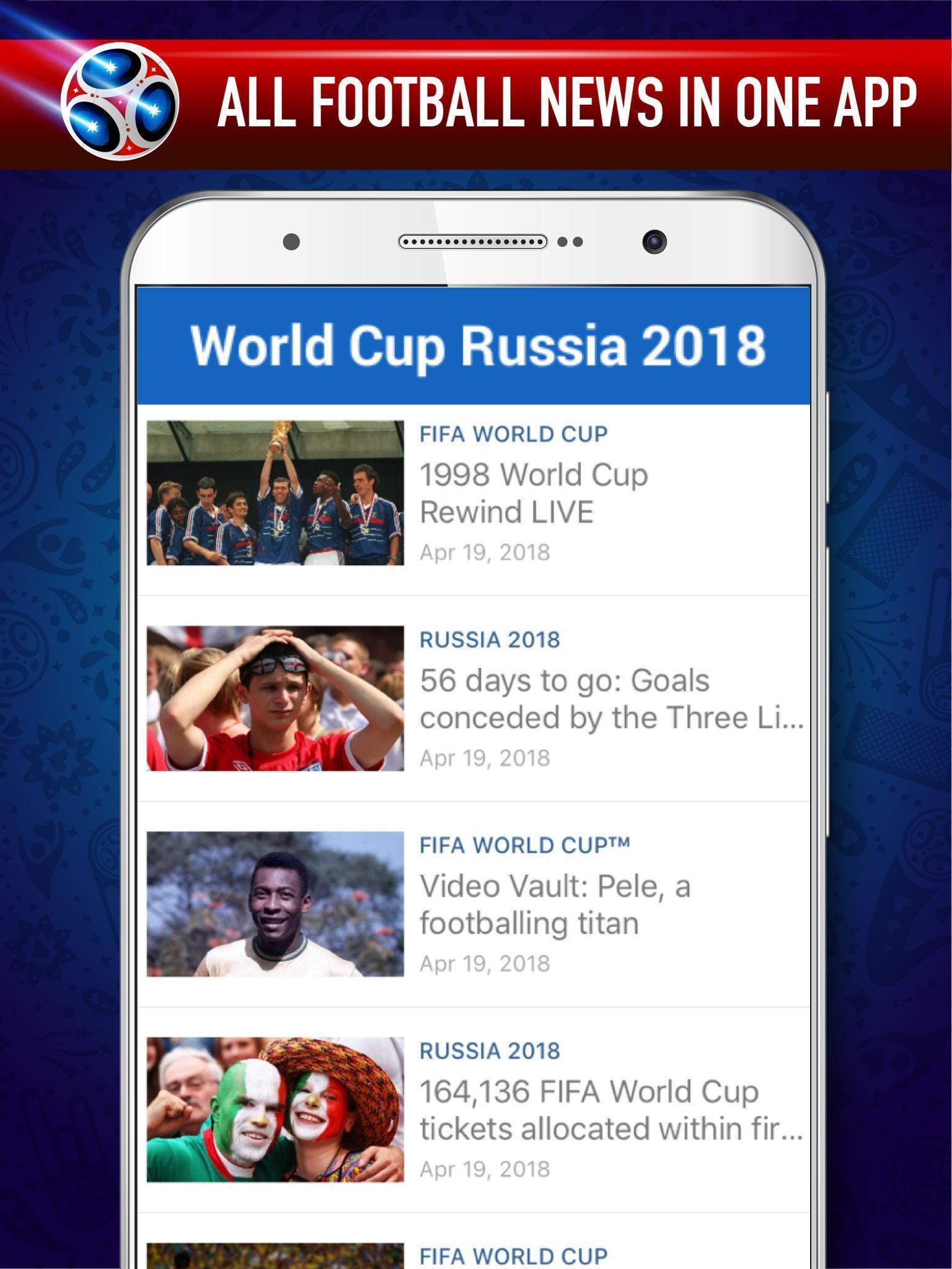 Calendario Mundial Futbol.Copa Mundial De Futbol 2018 Rusia Calendario For Android Apk