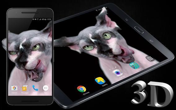 Sphynx Cat Live Wallpaper poster