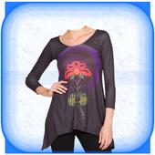 Woman T Shirt Photo Montage : Women Tshirt Designs icon
