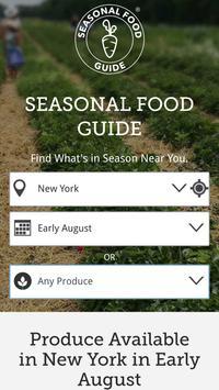 The Seasonal Food Guide poster