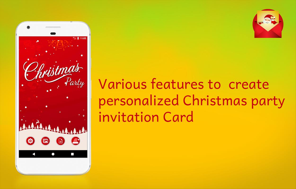 Christmas Party Invitations Card Maker APK Download - Free ...