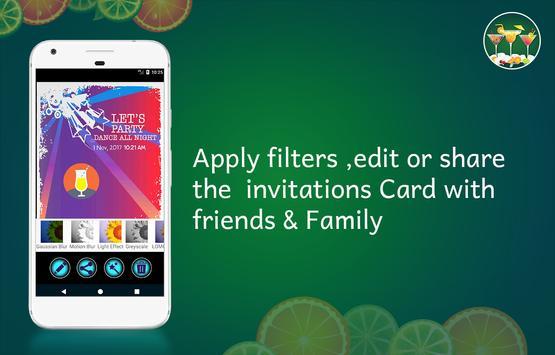 Cocktail Party Invitation Card Maker screenshot 5
